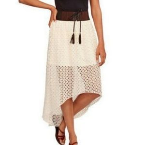 No Boundaries White High-Low Skirt Cover Up Small